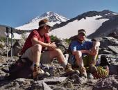 Relaxing at High Camp Mt. Shasta
