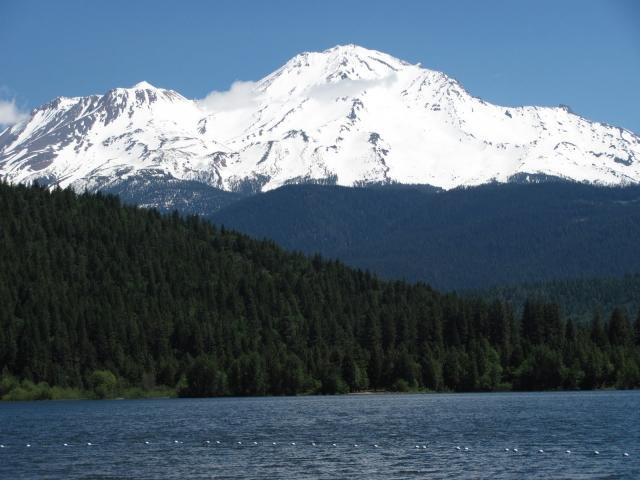 Shasta from lake Siskiyou